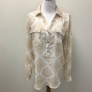 White House black market blouse size 12